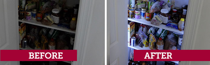 Weekend Warrior Pantry lighting project | Before and After